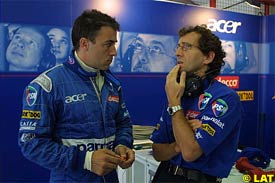 Jean Alesi and Alain Prost, today