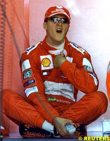 Michael Schumacher, today in France
