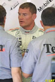 David Coulthard during today's practice