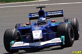 Nick Heidfeld in action at Magny Cours