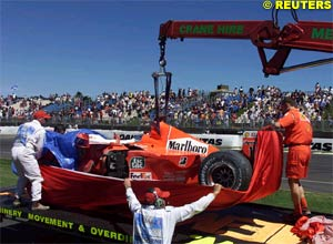 Schumacher's car after the accident