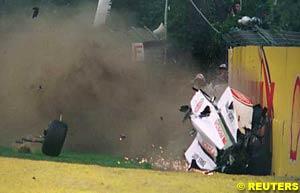 Villeneuve's car after the crash