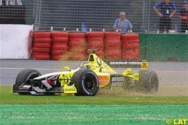 Frentzen spins during the race