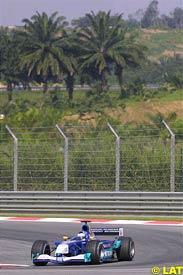 Kimi Raikkonen in action, today