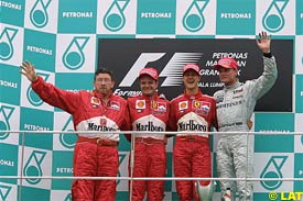 The Malaysian GP podium