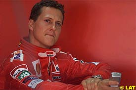 Michael Schumacher during today's first practice session