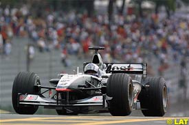 David Coulthard in action, today