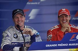 Ralf and Michael Schumacher right after qualifying, today