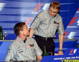 David Coulthard and Mika Hakkinen, today