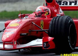 Schumacher drives at the A1-Ring, today