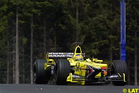 Jarno Trulli in action at the A1-Ring
