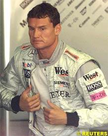 David Coulthard, today at Valencia