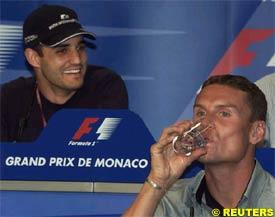 Juan Pablo Montoya and David Coulthard, today