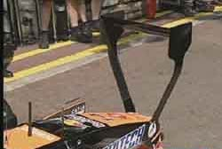The controversial wing on the Arrows car
