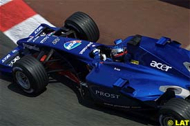 Jean Alesi, today during qualifying