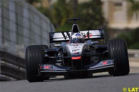 David Coulthard in action today