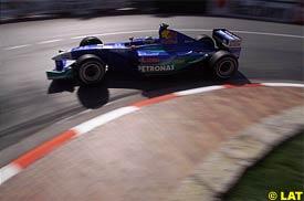 Nick Heidfeld during today's qualifying