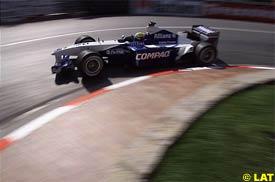 Ralf Schumacher in action during qualifying