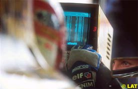 A timing screen