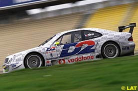 Jean Alesi during his DTM test