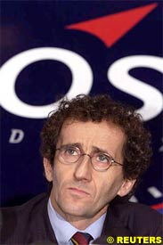 Alain Prost during today's press conference